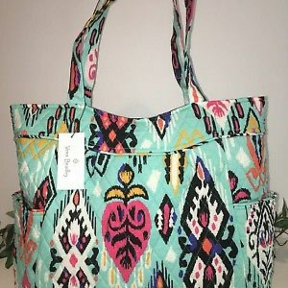 7565dcf00d NWT VERA BRADLEY PLEATED TOTE in PUEBLO